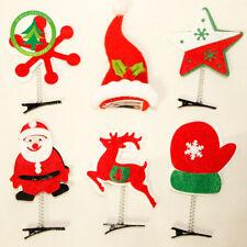 4pcs Christmas Ornaments Hair Clip Headband Hairpin Headwear Accessory