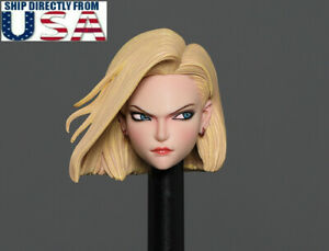 "1/6 Anime Girl Android 18 Lazuli Head Sculpt For 12"" Hot Toys TBL PHICEN Figure"