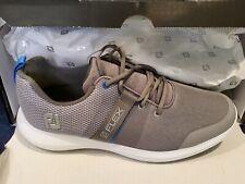 New listing Men's FootJoy New Flex Spikeless Golf Shoes - Grey/Blue, Size 10M, Free Ship!
