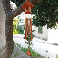 Carillon à Vent en Bambou Birdhouse pour Cour Jardin en Plein Air