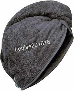 New Soft Hair Wrap Head Towel 100% Cotton Twist Button Quick Dry Hat Shower Cap