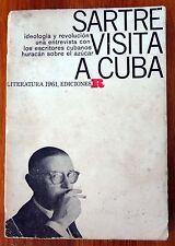 ALBERTO KORDA & ERNESTO FERNANDEZ - SARTRE VISITA A CUBA - 1960 1ST EDITION