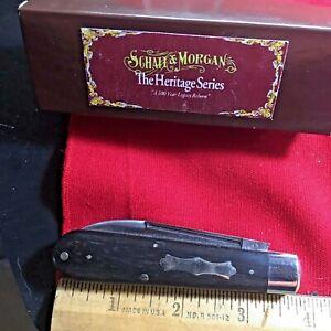 SCHATT & MORGAN HERITAGE SERIES EBONY WOOD JACK RARE 1 BLADE 1213  USA   HM