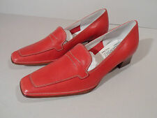 Gabriele by G. Beni Ladies Red Leather Sole Shoes with Heel EU 34 UK 2 Italian