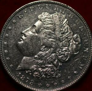 Uncirculated 1878 8 TF Philadelphia Mint Silver Morgan Dollar