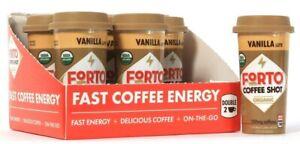 6 Count Forto 2 Oz Coffee Shot Organic 150mg Caffeine Vanilla Latte BB 7/22/21