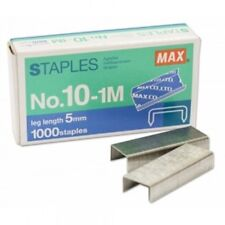 Max Staplers No.10-1M 5mm Mini 1000 Staples for Home and Office Thai Japan
