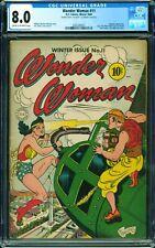 Wonder Woman #11 CGC 8.0 DC 1944 DOUBLE COVER!! RARE! Hypnota! JLA! L6 201 cm