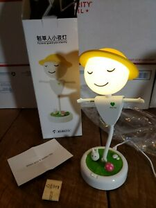 Scarecrow  Desk Lamp Flexible Vibration Sensor USB White LED Light (Yellow)