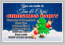 PERSONALISED XMAS/ CHRISTMAS PARTY INVITE / INVITES / INVITATION CARDS