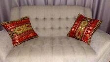 2 Turkish Pillow Covers one pair - Cushion Gobelin Cover for living room