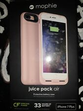 New Pink Mophie Juice Pack Air Protective Battery Case Apple iPhone 7 Plus NIB