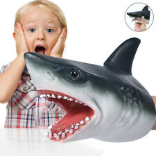 1X Shark Hand Puppet Soft Kids Toy Gift Great Cake Decoration Topper Jaws Child