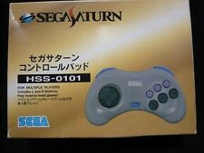 SEGA Saturn Official Gray Controller Pad HSS-0101 Boxed Japan Import