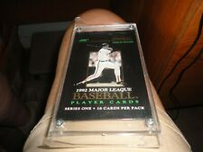 1992 Score Pinnacle Premier Edition Series One Major League Baseball Player Card