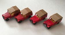 Matchbox Lesney Lot of 4 X Superfast CJ6 Jeep 1977 #53 Diecast Model Cars