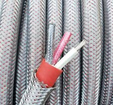 50' ft, Armored 6/3 AWG Gauge Nickel Copper Cable, LSZH High Temp Aircraft Wire