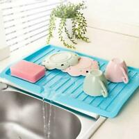 Plastic Worktop Dish Drainer Drip Tray Large Kitchen Sink Drying Rack Holder HOT