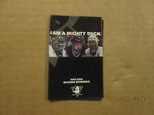 NHL Anaheim Mighty Ducks Vintage 2003-2004 Logo Hockey Pocket Schedule