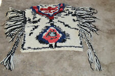 Isabel Marant Etoile Shanon Tassel Fringed Poncho Sweater Tribal Wool Knit Women