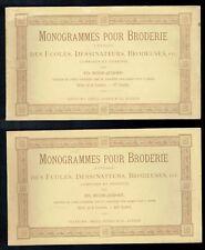 Monogrammes Pour Broderie Dessinés par Boos Jegher - 6 Cahiers Orell Fussli 1889