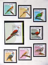 GUINEA-BISSAU Birds on 3 Pages U/M NB3601