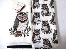 Envogue Hoot Owl on Branch Kitchen Towels Cabin Lodge Kitchen Home Decor