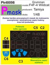 F4F-4 WILDCAT CANOPY & WHEELS PAINTING MASK for TAMIYA #48098 PMASK