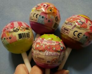 Lot of 4 CakePop Cuties Mystery Cake Pop Squishy Cutie & Sweetie Colors May Vary