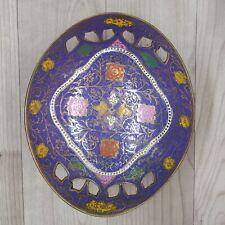 Metal Fruit Bowl Persian Mugal Minakari Work kitchen table decorative Brass Bowl
