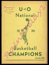 >RARE 1939 Oregon Ducks 1st EVER NCAA FINAL FOUR CHAMPS Campus Publication!!