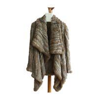 Fluffy Cardigan Knit Rabbit Fur Oversized Cardigan Outwear Womens Fur Sweater