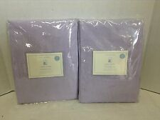 2 pc Pottery Barn Kids Linen Sheers Window Drapes Panels Curtain Lavender 44X96