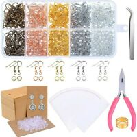 2153pcs Earring Making Supplies Earring Making Kit with Earring Hooks Jump Rings