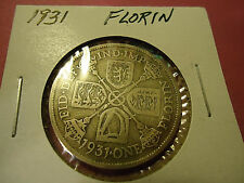 1931 English Florin (.500 Silver) >Buy It For Dad< Combined Shipping