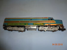 American Flyer #466 Chrome Comet Alco PA Locomotive. Runs. Factory Over-paint