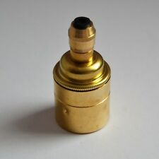 Brass Lamp holder/Light Bulb Holder E27 with 10mm entry and Cord Grip