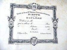 DIPLOME DE TIR DU 21em regiment territorial d'infanterie (fin 19em)