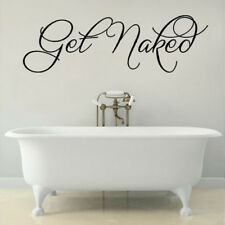 Moistureproof Waterproof English Proverbs Get Naked Bathroom Carved Wall Sticker