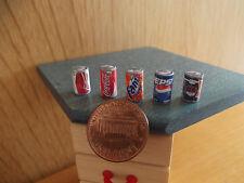 5 Miniaturdosen Puppenhaus Maßstab 1:12