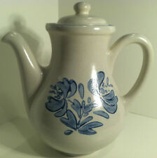 PFALTZGRAFF 48 OZ. YORKTOWNE FLORAL STONEWARE TEA COFFEE POT