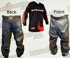 PAINTBALL PRO PANTS  AND JERSEY COMBO  (RED) SYSTEM X
