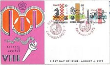 OLYMPICS JUDO CHESS ATHLETICS  FDC COVER INDONESIA 1973