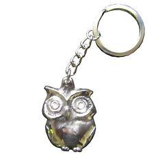 Schlüsselanhänger Eule Silberbronze anpoliert 4 cm * 3 cm key chain owl