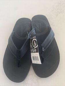 Volcom sandals Men's 11 Black Creedler black leather