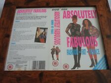 Vhs sleeve framed mounted covers small box original ABSOLUTELY FABULOUS FASHION