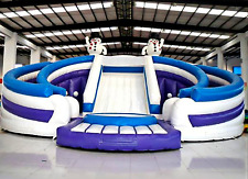 99x50x30 Bouncy Castle Jumping Inflatable Water Slide Park Trampoline We Finance