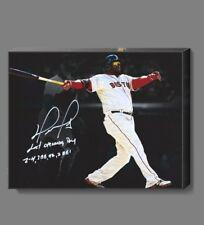"David Ortiz Boston Red Sox Canvas Print Wall Art 11 X 14"" Inch."