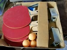 Vintage Sportcraft Ping Pong Table Set 4 Paddles 3 Balls & Net