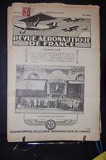 revue aéronautique de france , AVIATION  1929; Mai N°5 , SOMMAIRE VOIR PHOTO.